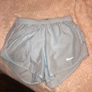 Icy blue nike shorts